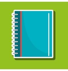 notebook icon design vector image