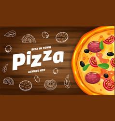 pizza pizzeria italian horizontal template flyer vector image