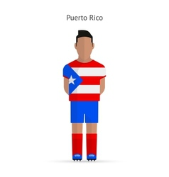 Puerto Rico football player Soccer uniform vector