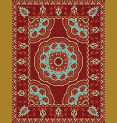 red template for carpet vector image