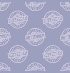 Rotterdam seamless pattern vector
