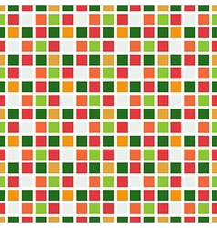 Seamless pattern abstract square pixel mosaic vector image