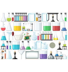 set lab object vector image