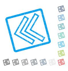 Shift left icon rubber watermark vector