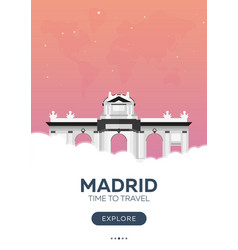 spain madrid time to travel travel poster vector image
