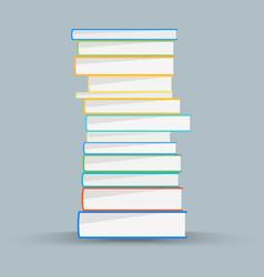 Stack academic books academic books vector