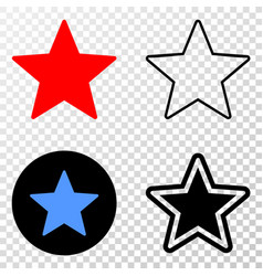 star eps icon with contour version vector image