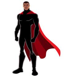 Superhero black on white vector