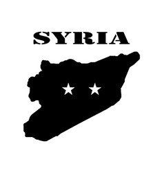 Symbol of syria and map vector