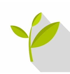 Tea plant icon flat style vector image
