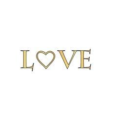 text Love computer symbol vector image