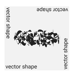 universal trendy geometric shape isolated on grey vector image