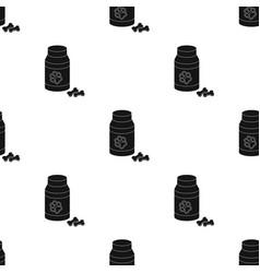 Veterinary medicine icon in black style isolated vector