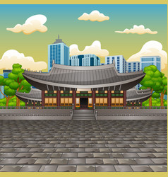 view the deoksugung palace vector image