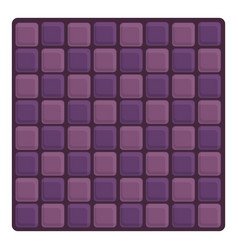 Violet paving icon cartoon style vector