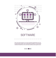 web design software development computer vector image