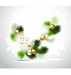 Christmas branch of fir tree vector image vector image