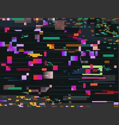 Digital glitch screen effect glitched video vector