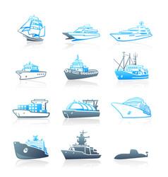 marine traffic icons - marine series vector image vector image