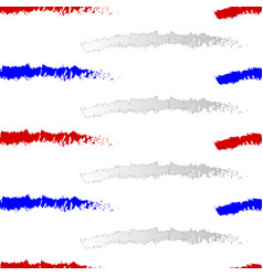 red white and blue stripes seamless pattern vector image vector image