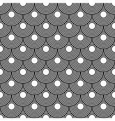 Seamless circles pattern black and white repeating vector image vector image