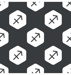 Black hexagon sagittarius pattern vector