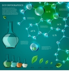 Infographics bio bubble set vector