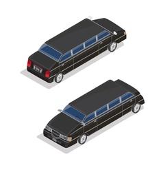Isometric Transportation Luxury Limousine Car vector image vector image