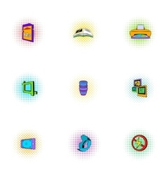 Photo icons set pop-art style vector image vector image