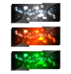 shiny modern banners vector image vector image