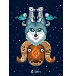 wild totem animal Husky vector image vector image