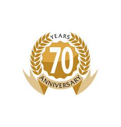 70 years ribbon anniversary vector image vector image
