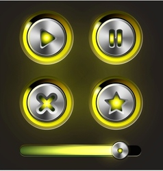 Set of media player elements vector image