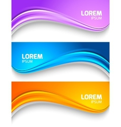 Set of wavy colorful banners vector image