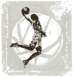 slam jam basket ball vector image