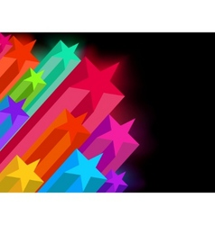 abstract glowing stars on a dark background eps 8 vector image