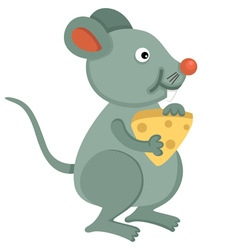 rat eating cheese vector image
