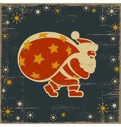 Retro Santa Claus vector image vector image