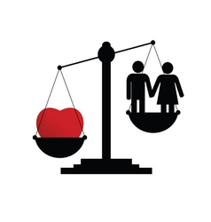 scales with couple in love vector image