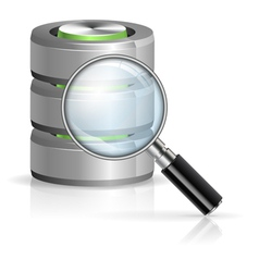 Search in Database Concept vector image vector image