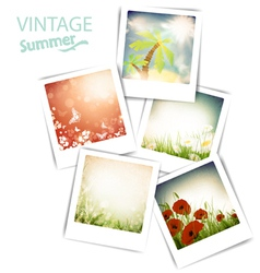 some vintage summer photos vector image vector image