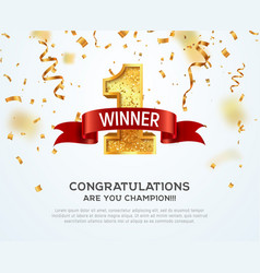 1 place competition winner vector image