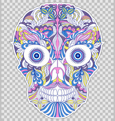 Abstract floral skull vector