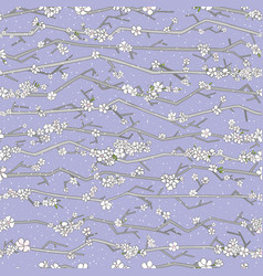 abstract sakura seamless pattern floral branch vector image