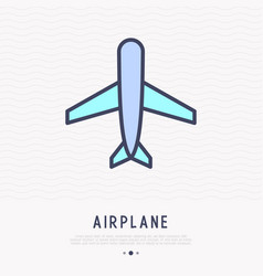 airplane thin line icon vector image