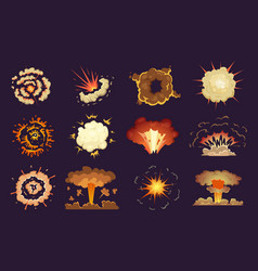 Bomb explosion motion abstract blast fire and vector