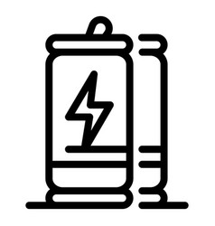 Boost energy drink icon outline style vector
