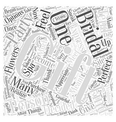 Bridal party gifts Word Cloud Concept vector