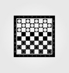 brilliant classic checkers there are two layers vector image