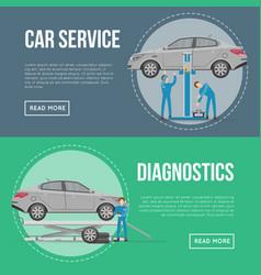 car diagnostics and repair services flyers vector image
